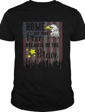 ome Of Free Because Of Brave Usa Veterans 4th Of July shirt