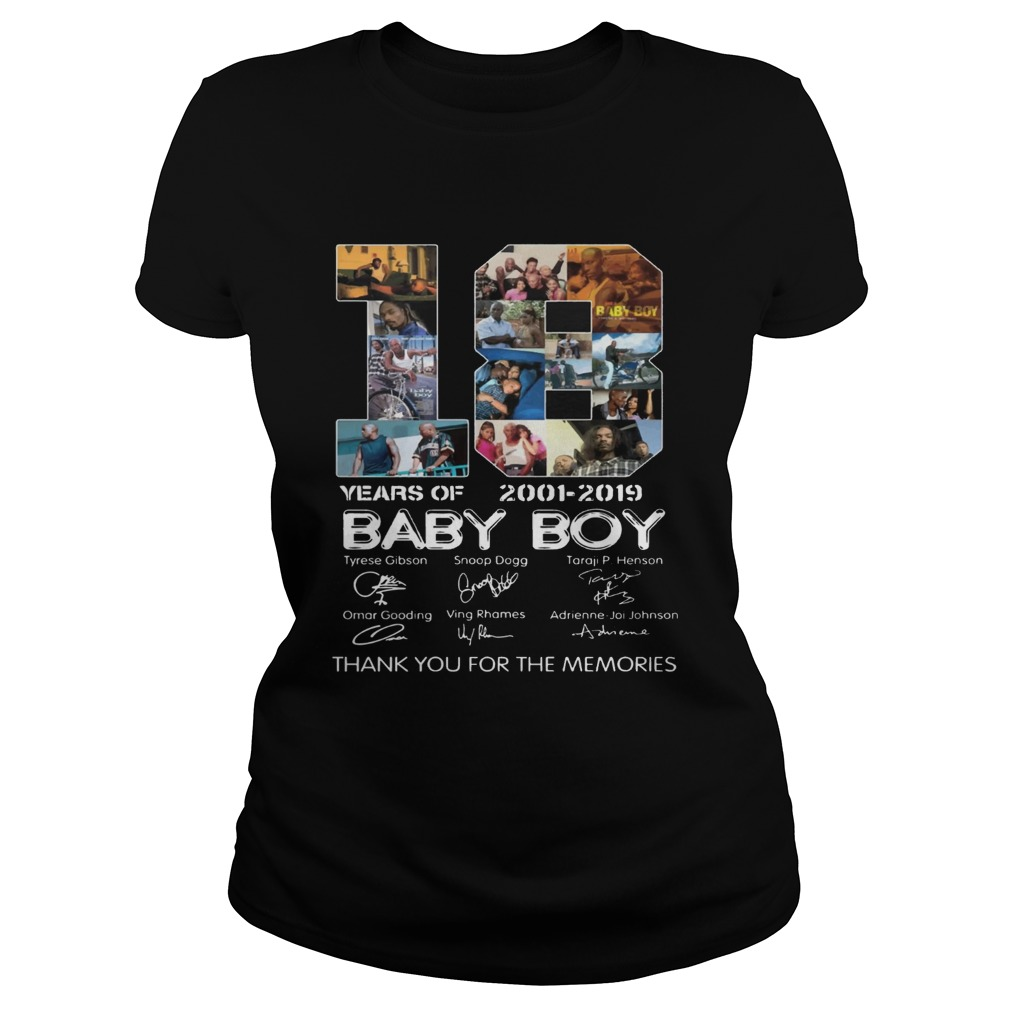 18 Years Of Baby Boy 2001 2019 Thank You For The Memories Movie Fans Cast Signatures Shirts Classic Ladies