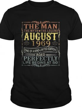 1969 Man Myth Legend August 50th Bday Gifts 50 yrs old TShirt