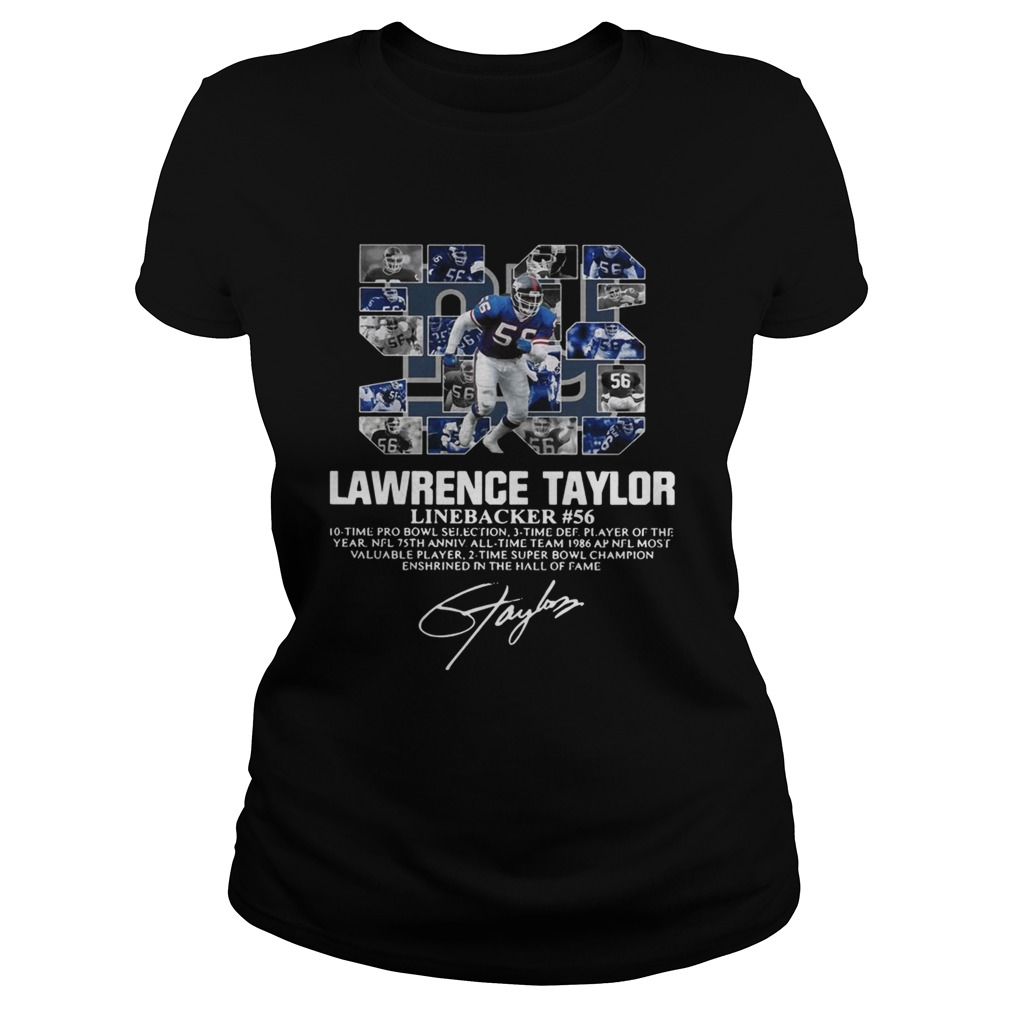 56 Lawrence Taylor Linebacker 56 10 time Pro Bowl selection signature Classic Ladies