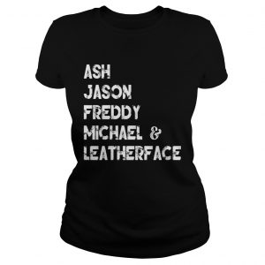 80s Horror Legends Ash Jason Freddy Michael Leatherface Ladies Tee