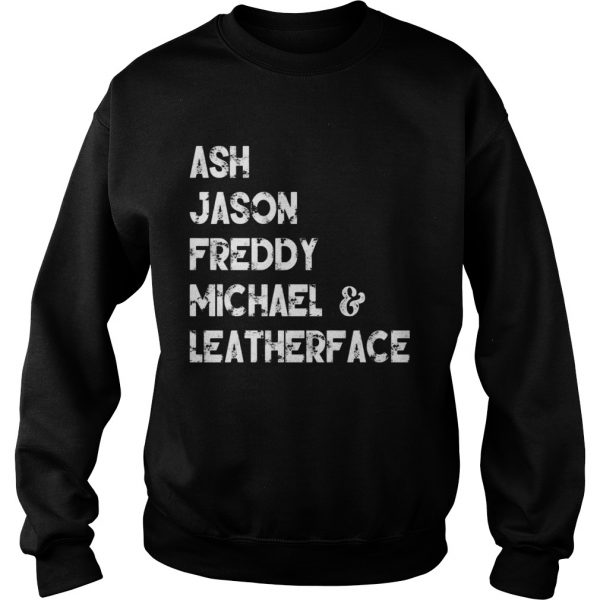 80s Horror Legends Ash Jason Freddy Michael Leatherface Sweatshirt