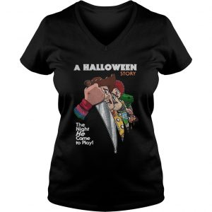 A Halloween story the night he come to play Ladies Vneck