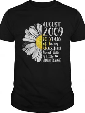 August Girl 10 Years Old Sunshine Birthday shirt