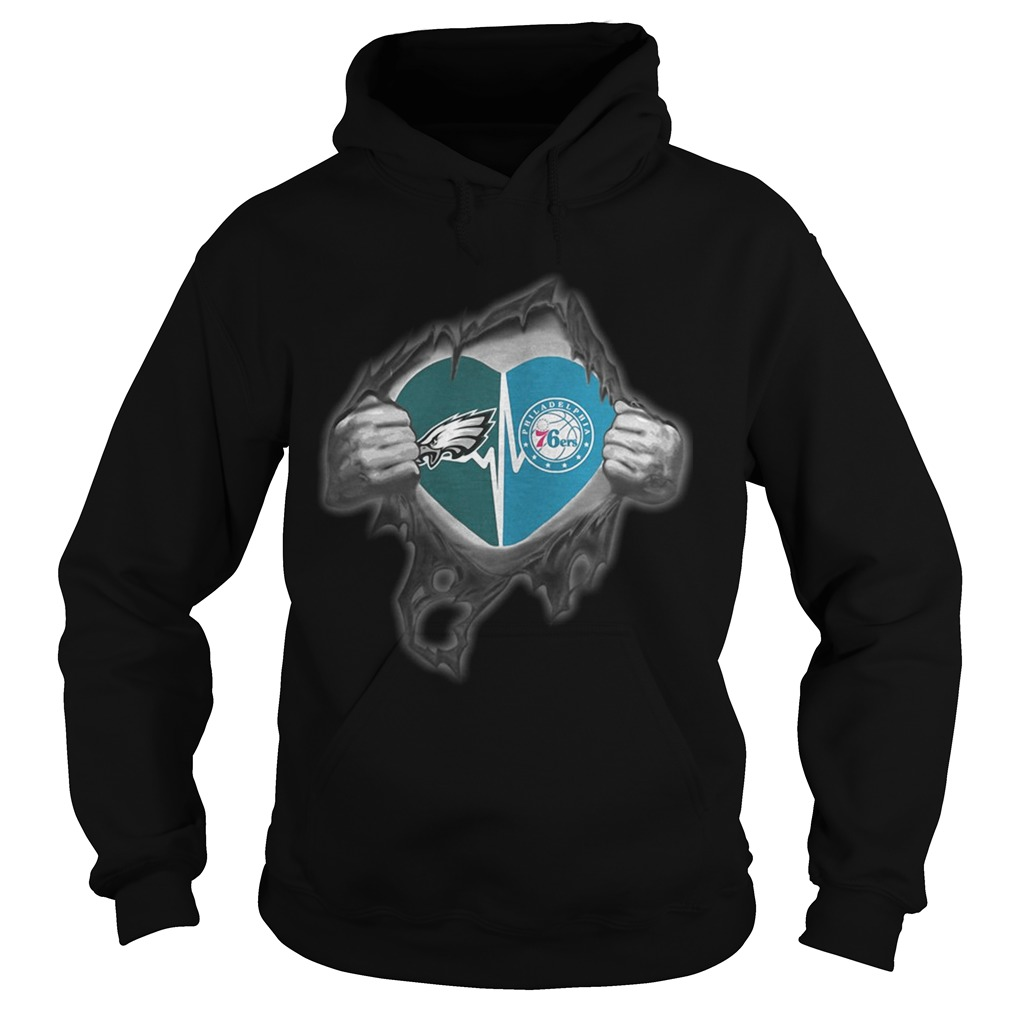 Eagles 76Ers Its in my heart inside me Hoodie