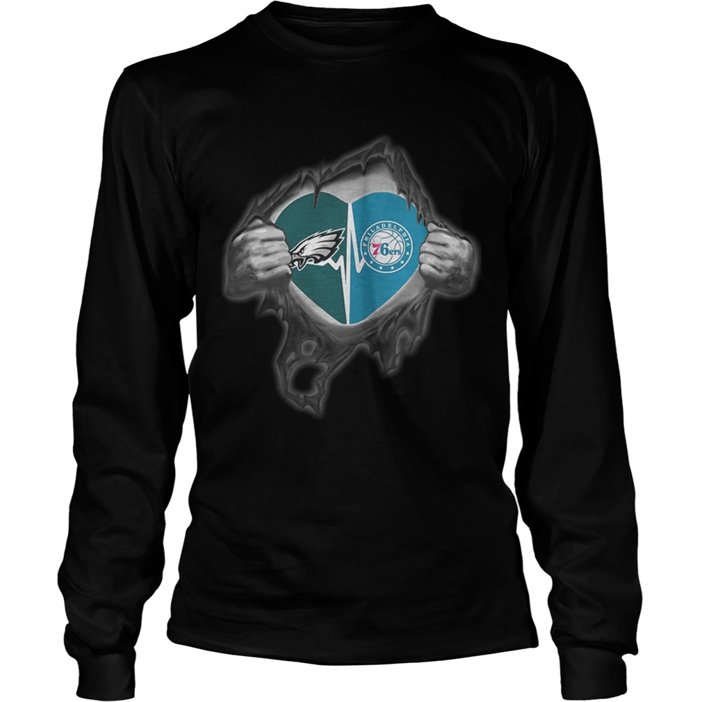 Eagles 76Ers Its in my heart inside me LongSleeve