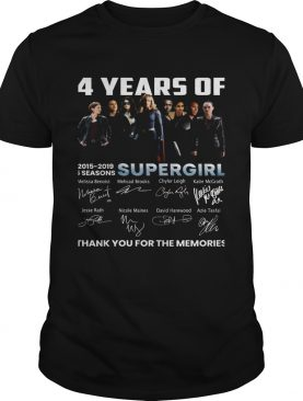4 years of Supergirl 2019 thank you shirt