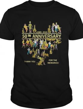 50th anniversary Scooby doo 1969 – 2019 thank you for the memories shirt