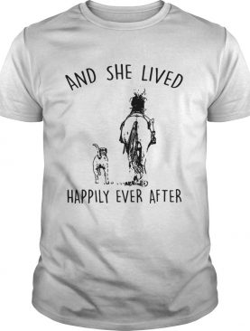 Horse And Dog and she lived happily ever after shirt by Tshirt