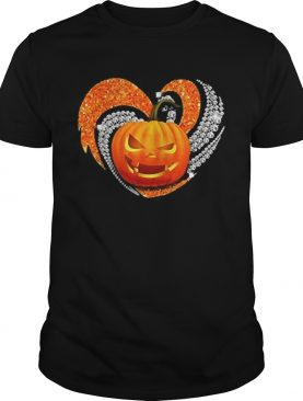 Pumpkin heart bling Halloween shirt