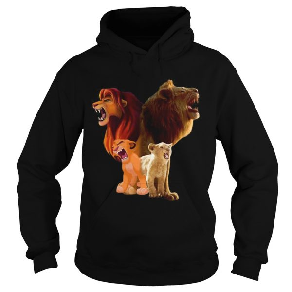 Hot Baby Simba and adult Simba The Lion King 2019  Hoodie