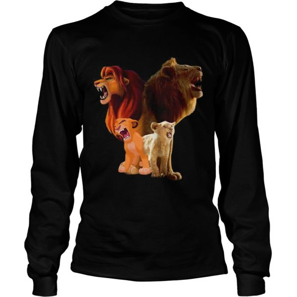Hot Baby Simba and adult Simba The Lion King 2019  LongSleeve