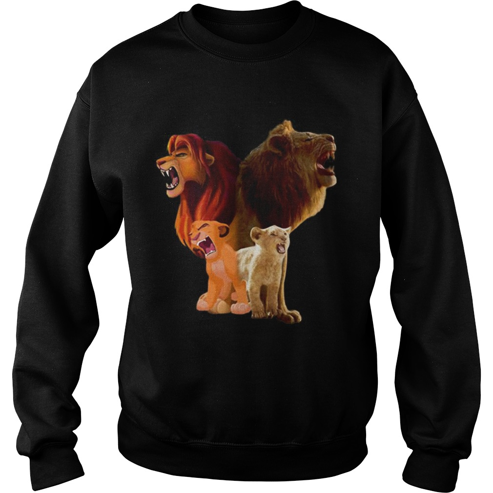 Hot Baby Simba and adult Simba The Lion King 2019 Sweatshirt