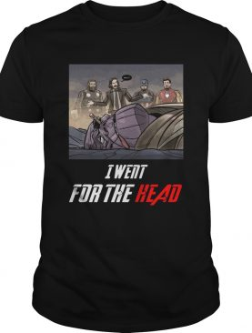 I Went For The Head Funny John Wick Tshirt