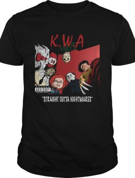 KWA straight outta nightmares NWA Parody Halloween shirt