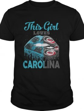 Lip this girl loves Carolina shirt