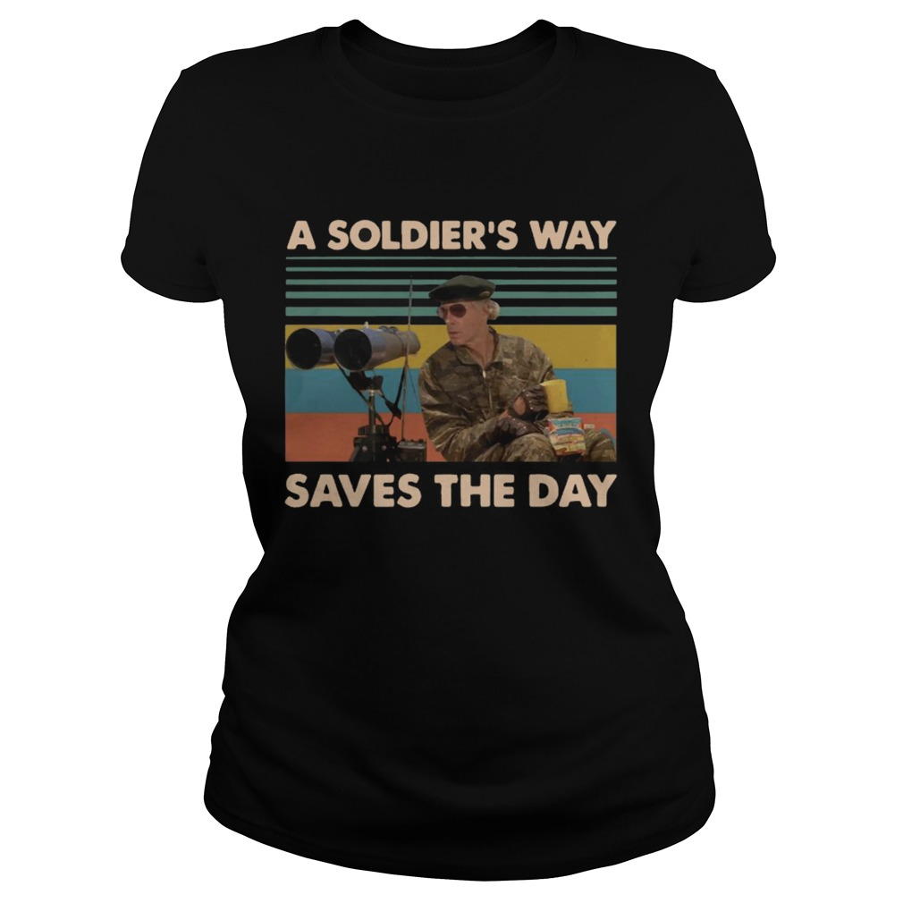 Mark Rumsfield A soldiers way saves the day vintage Classic Ladies