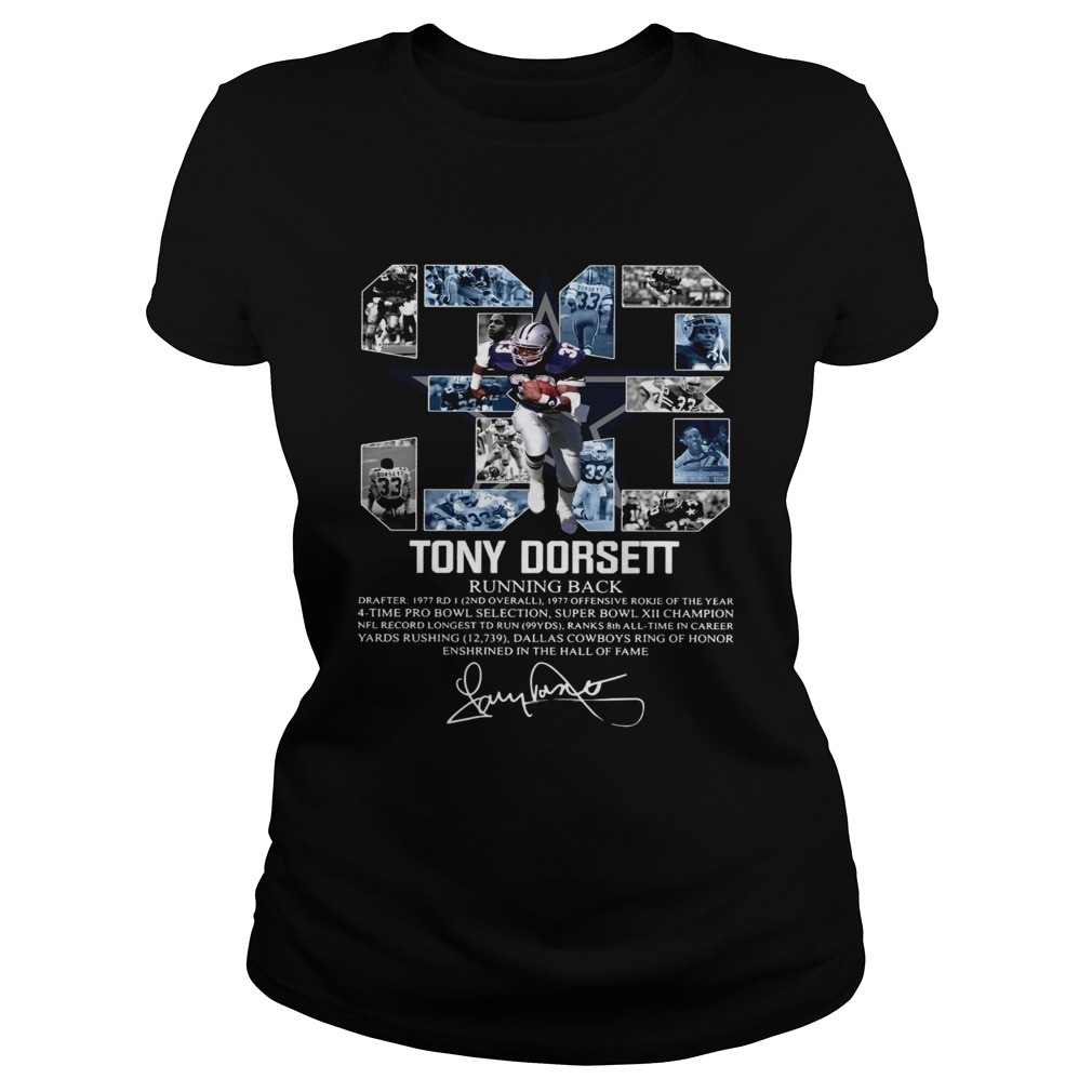 Signature 33 Tony Dorsett Running back Classic Ladies
