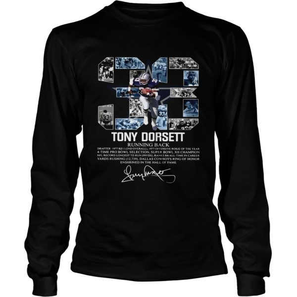 Signature 33 Tony Dorsett Running back  LongSleeve