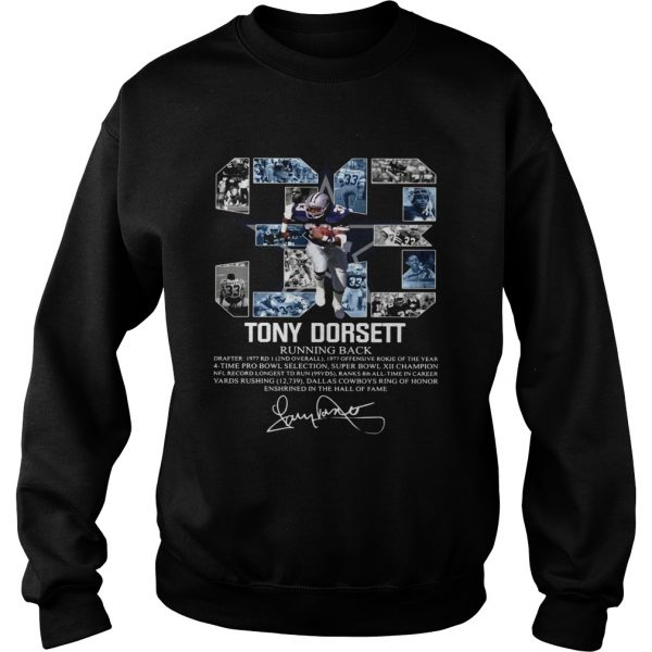 Signature 33 Tony Dorsett Running back  Sweatshirt