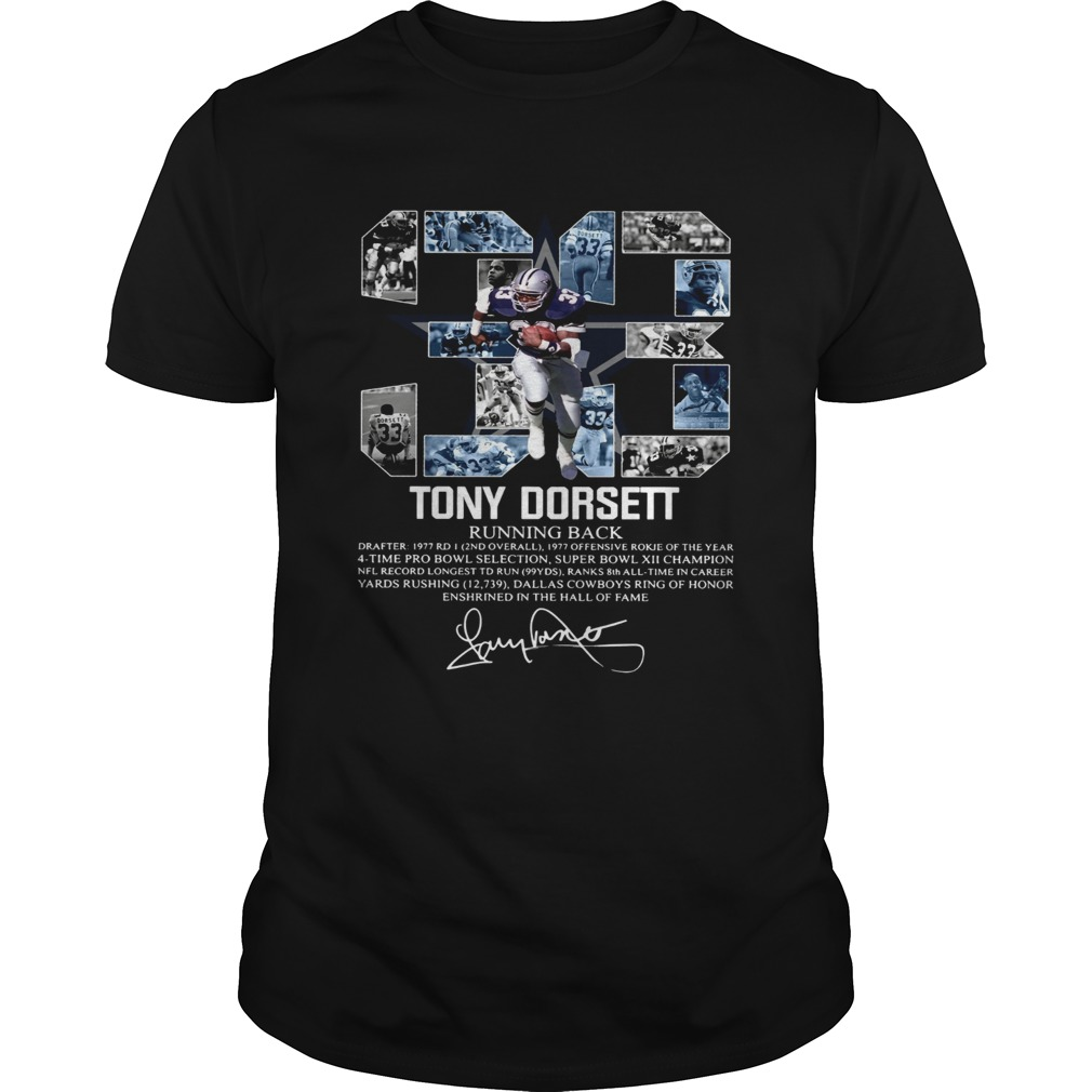 Signature 33 Tony Dorsett Running back Unisex
