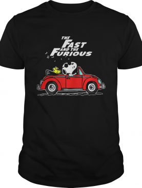 The Fast And The Furious Hobbs And Shaw Parody Snoopy And Woodstock Driving Red Car Shirts