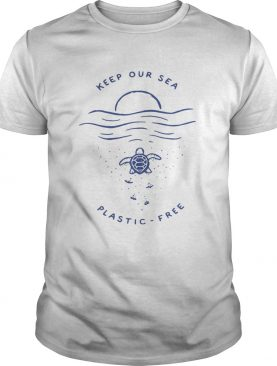 Turtle keep our sea plastic free shirt