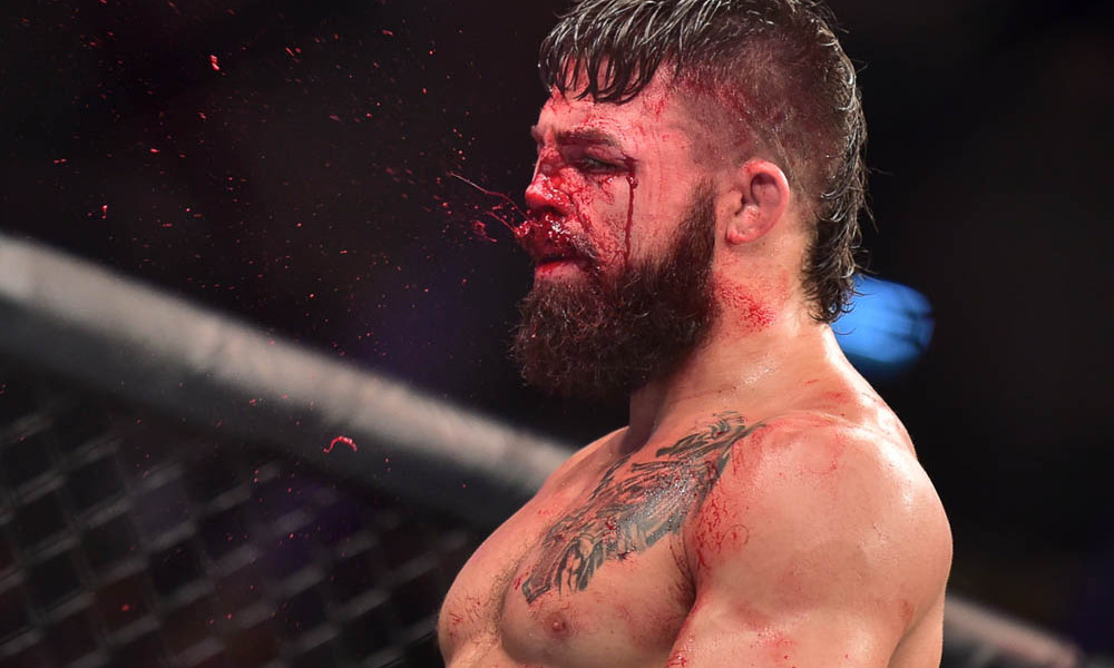 Vicente Luque shatters Mike Perry's nose in split decision victory