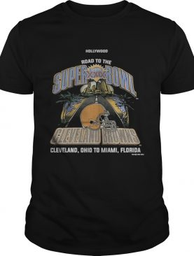 Wood Road To The Super Bowl Cleveland Browns Shirt