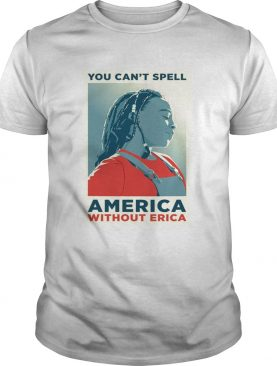 You can not spell america without erica tshirt