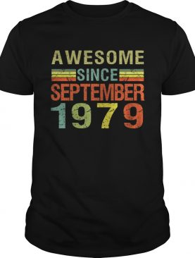 Born September 1979 Awesome 40 Bday Gift 40th Birthday T-Shirt