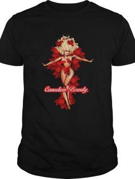 Canadian Beauty Girl Maple Leaf shirt