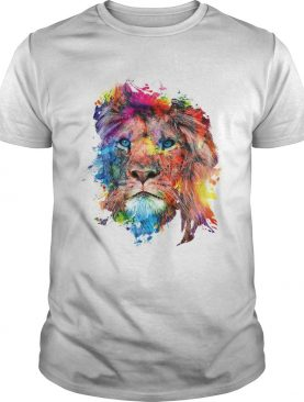 Colorful lion shirt