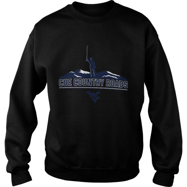 Cue Country Roads Mountaineers  Sweatshirt