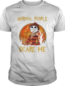 Freddy Krueger and Jack Skellington Normal People Scare Me shirt