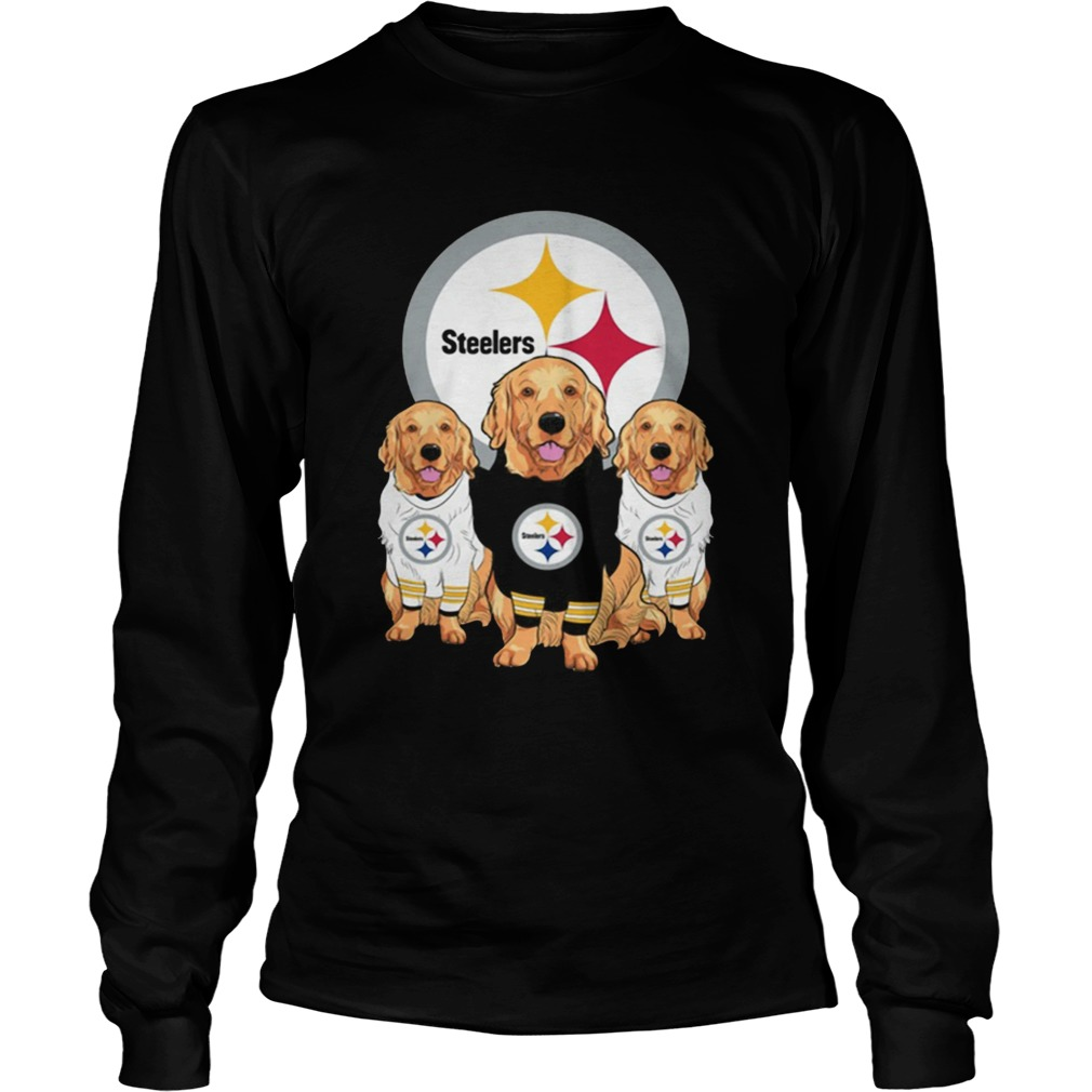 Golden Retriever Pittsburgh Steelers Shirt LongSleeve