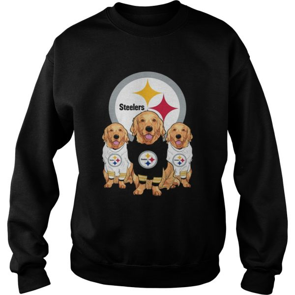 Golden Retriever Pittsburgh Steelers Shirt Sweatshirt