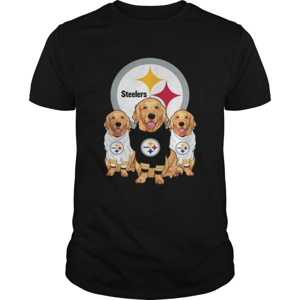 Golden Retriever Pittsburgh Steelers Shirt Unisex