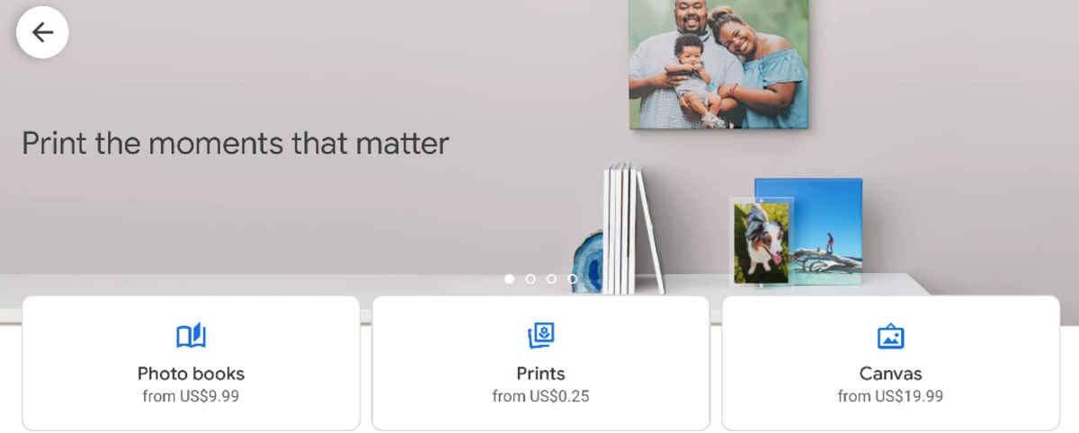 Google Photos may soon add same day Photo Prints at Walmart and CVS and large Canvas Prints for walls