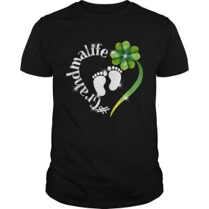 Grandma Life Shamrock Heart St Patricks Day Shirt Unisex