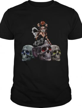 Butterfly Sit On Three Skull Spirit Of The Dearly Loved Figurine shirt
