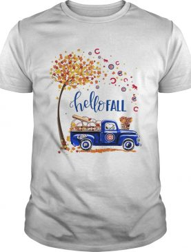 Hello Fall Snoopy driving Chicago Cubs shirt