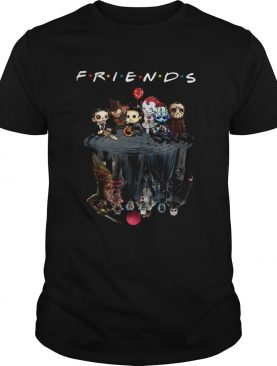 Horror characters movie water mirror reflection friends shirt