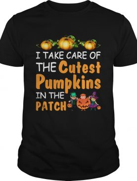 I Take Care Of The Cutest Pumpkins In The Patch Halloween Teachers Shirt