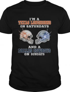 Im Texas Longhorns on saturdays and a Dallas Cowboys on sundays shirt