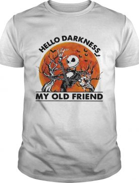 Jack Skellington hello darkness my old friend sunset shirt