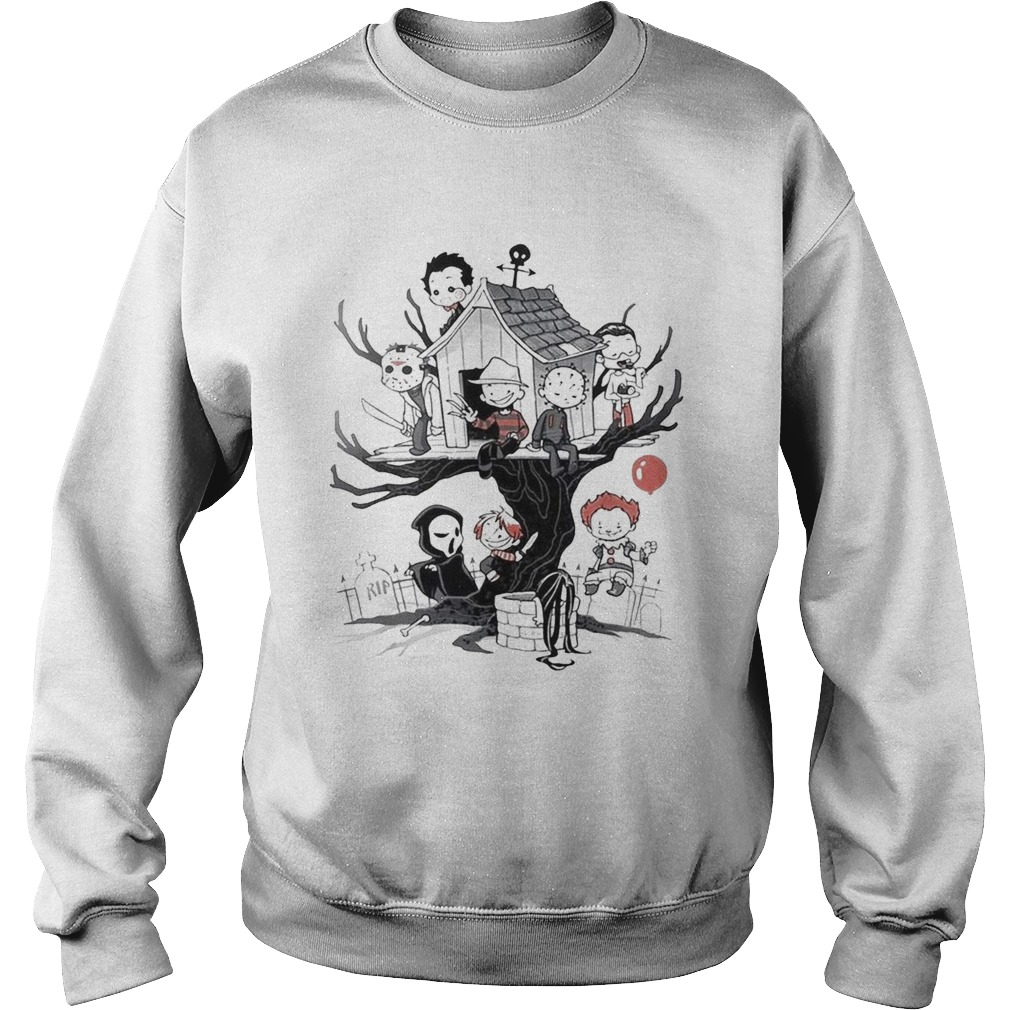 Maniac Park Horror movie Theme Park tree Halloween Sweatshirt