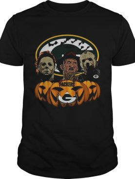 Michael Myers Jason Voorhees and Freddy Krueger Green Bay Packers Halloween shirt