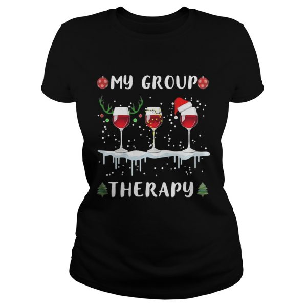 My group therapy wine glass Christmas  Classic Ladies