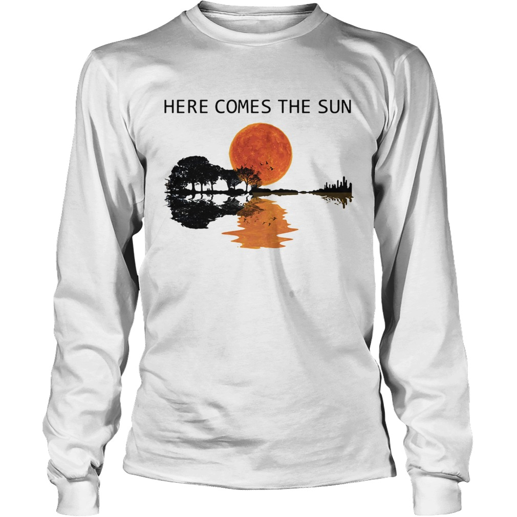 Natural Guitar sunset here comes the sun LongSleeve